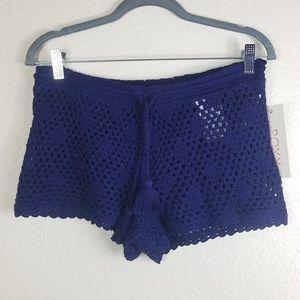 New Purple knitt ROXY Medium Beach shorts